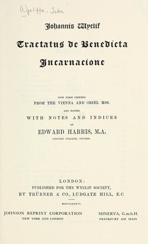 Download Tractatus de benedicta incarnacione