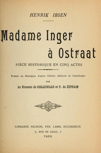 Madame Inger à Ostraat