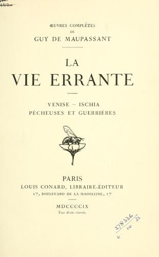 Download La vie errante