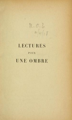 Download Lectures pour une ombre.
