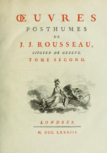 Download Collection complette des oeuvres de J.J. Rousseau.