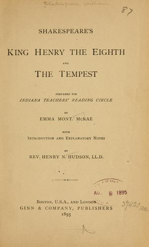 Shakespeare's King Henry the Eighth