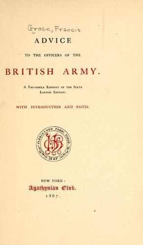Download Advice to the officers of the British Army