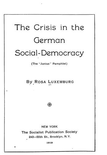 Download The crisis in the German Social-Democracy