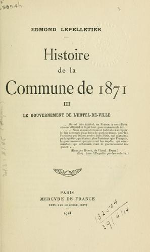 Histoire de la Commune de 1871.