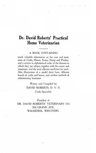Download Dr. David Roberts' practical home veterinarian