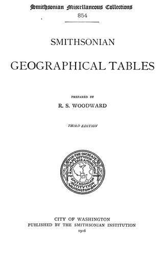 Download Smithsonian geographical tables