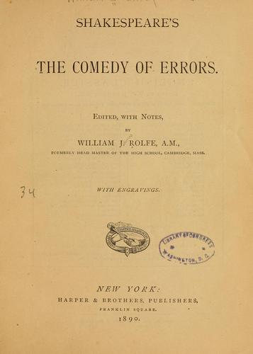 Download Shakespeare's The comedy of errors.