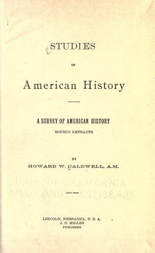 Download A survey of American history