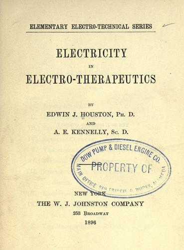 Electricity in electro-therapeutics.