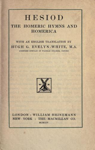 Download Hesiod, the Homeric hymns and Homerica