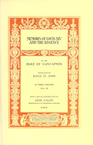 Download Memoirs of Louis XIV and the regency