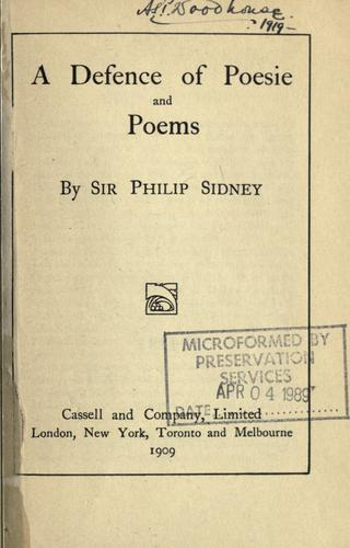 Download A defence of poesie and poems.