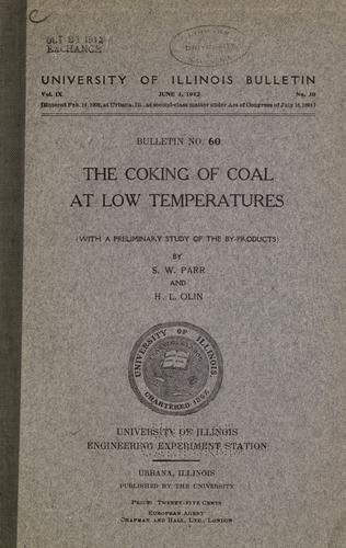 Download The coking of coal at low temperatures