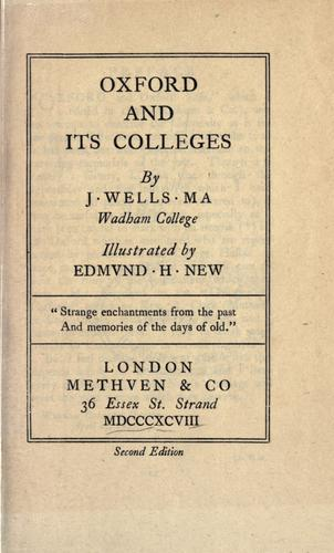 Oxford and its colleges.