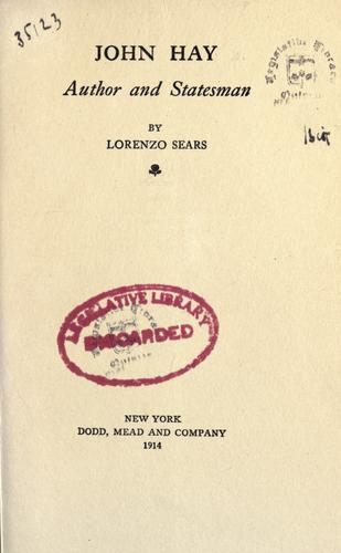 Download John Hay, author and statesman