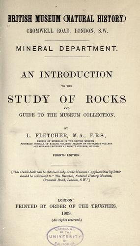 Download An introduction to the study of rocks and guide to the Museum collection.