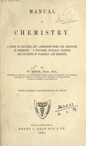 Download Manual of chemistry.