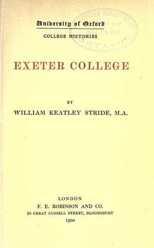 Download Exeter College