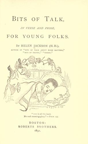 Download Bits of talk, in verse and prose, for young folks