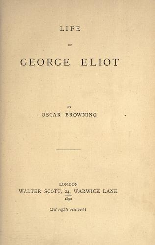 Download Life of George Eliot.