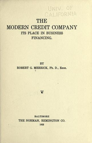 Download The modern credit company