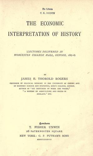 Download The economic interpretation of history
