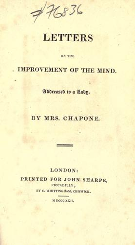 Download Letters on the improvement of the mind.
