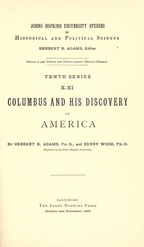 Download Columbus and his discovery of America.