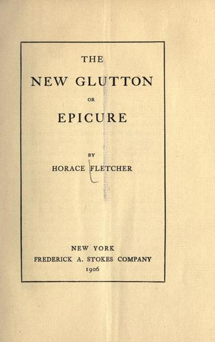 Download The new glutton or epicure