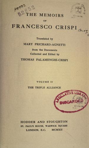 Download The memoirs of Francesco Crispi