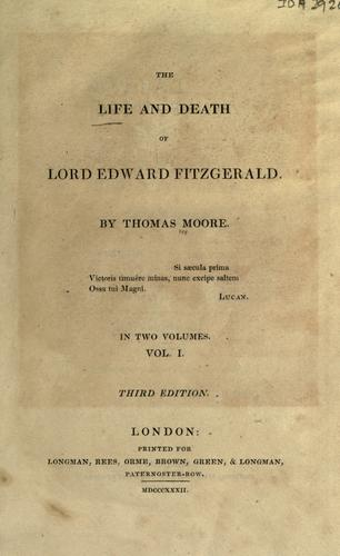 The life and death of Lord Edward Fitzgerald.