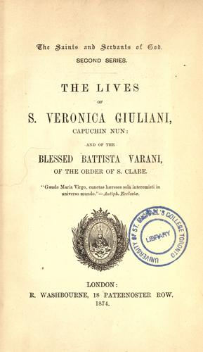 Download The lives of S. Veronica Giuliani, Capuchin nun