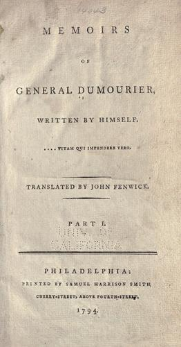 Download Memoirs of General Dumourier