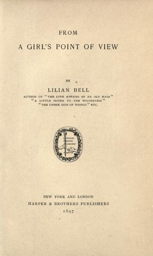 From a Girl's Point of View by Lilian Bell