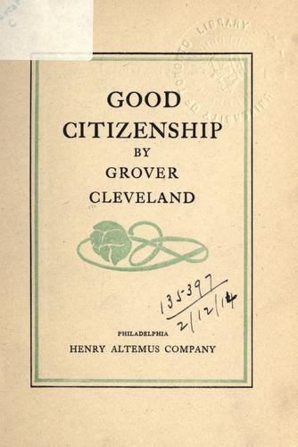Download Good citizenship.