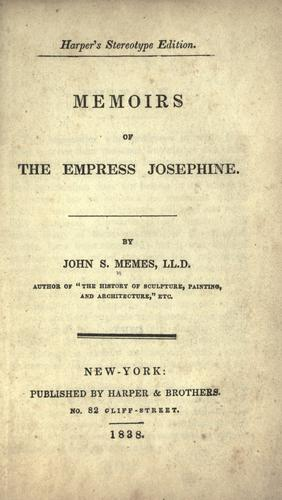 Memoirs of the Empress Josephine.