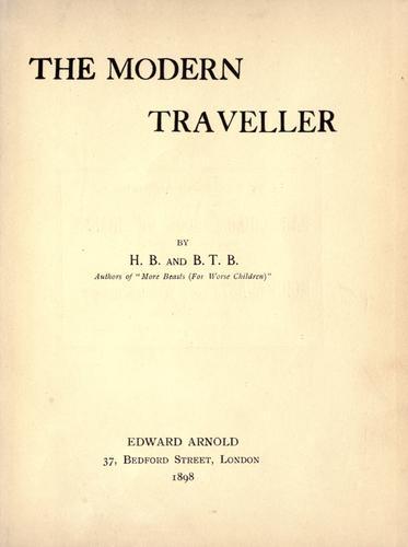 The  modern traveller