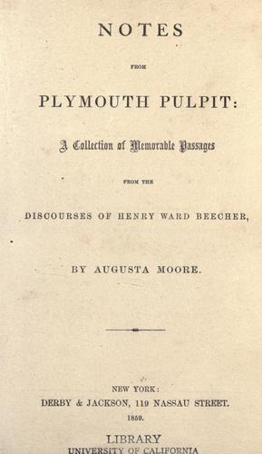 Download Notes from Plymouth pulpit