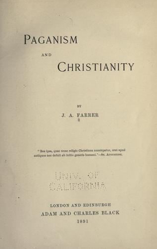 Download Paganism and Christianity
