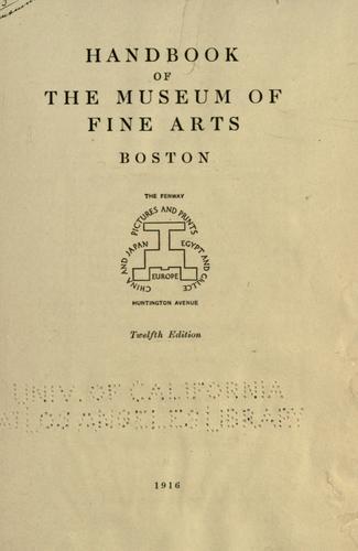 Download Handbook of the Museum of Fine Arts, Boston.