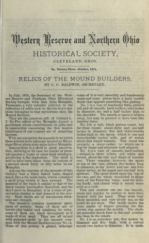 Download Relics of the mound builders.