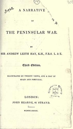 Download A narrative of the peninsular war