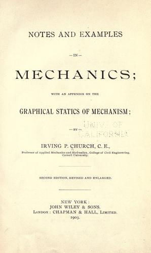 Notes and examples in mechanics