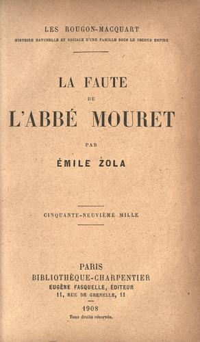 Download La faute de l'abb©Øe Mouret