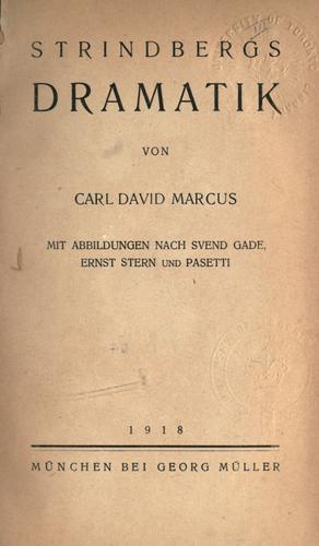 Strindbergs Dramatik