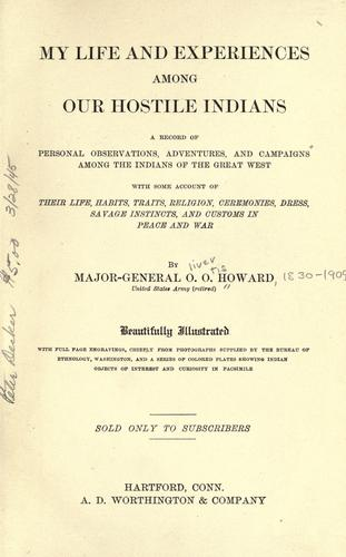 Download My life and experiences among our hostile Indians