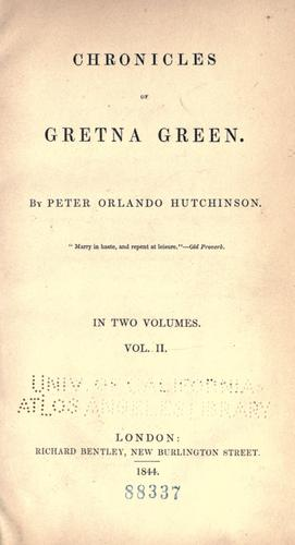 Download Chronicles of Gretna Green.