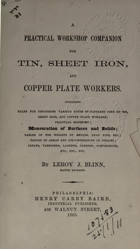 A practical workshop companion for tin, sheet iron and copper plate workers.