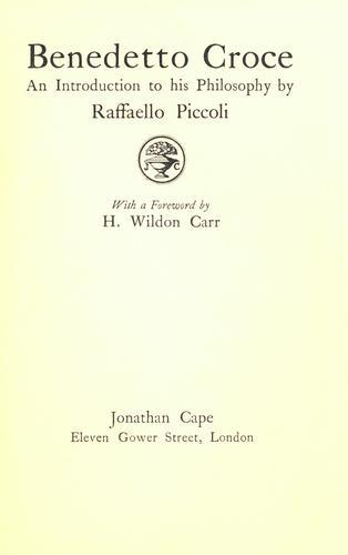 Download Benedetto Croce